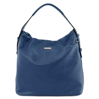 Soft Leather Hobo Bag - Dark Blue | Genuine Leather Bags | Australia
