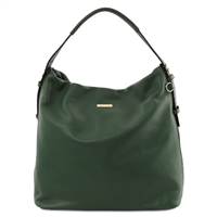 Soft Leather Hobo Bag - Green | Genuine Leather Bags | Australia