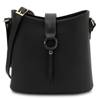 Tuscany Leather TL141598 Teti Black Leather Shoulder Bag | Women's | Bags Australia