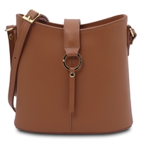 Tuscany Leather TL141598 Teti Cognac Leather Shoulder Bag | Women's | Bags Australia
