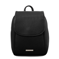 TL141905 Soft Leather Backpack - Black