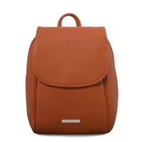TL141905 Soft Leather Backpack - Cognac
