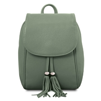 TL141905 Soft Leather Backpack - Green | Women's Backpacks Australia