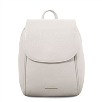TL141905 Soft Leather Backpack - White | Women's Backpacks Australia