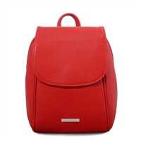 TL141905 Soft Leather Backpack - Red | Women's Backpacks Australia