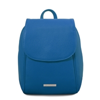 TL141905 Soft Leather Backpack - Blue | Women's Backpacks Australia