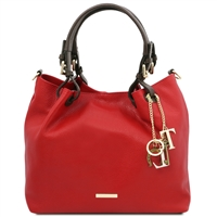 Red Leather Shoulder Bag | Genuine Leather Bags | Australia