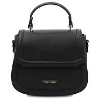 TL141941 Leather Handbag- Black by Tuscany Leather | Handbags Australia