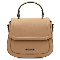 TL141941 Leather Handbag- Champagne by Tuscany Leather | Handbags Australia