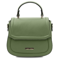 TL141941 Leather Handbag- Mint Green by Tuscany Leather | Handbags Australia