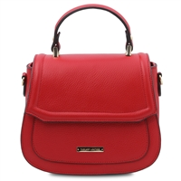 TL141941 Leather Handbag - Lipstick Red by Tuscany Leather | Handbags Australia