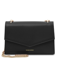 Fortuna Shoulder Bag - Black | Women's Bags | Genuine Italian Leather
