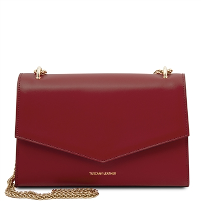 Fortuna Clutch Shoulder Bag - Red | Women's Bags | Genuine Italian Leather