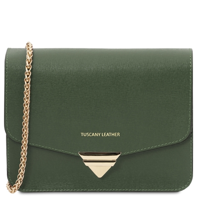 Leather Shoulder Bag - Green | Women's Bags | Genuine Italian Leather | Australia