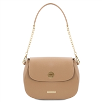 Fresia Leather Shoulder Bag - Champagne | Women | Genuine Leather Bags | Australia