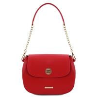 Fresia Red Leather Shoulder Bag | Women | Genuine Leather Bags | Australia