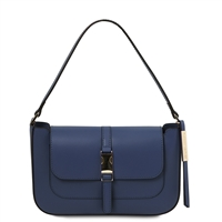 Noemi Clutch Handbag - Dark Blue by Tuscany Leather | Genuine Leather Bags | Australia