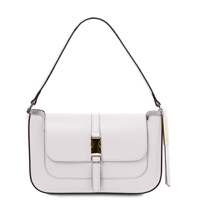 Noemi Clutch Handbag - White by Tuscany Leather | Genuine Leather Bags | Australia