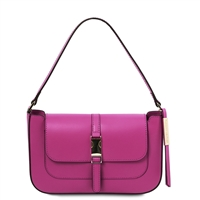 Noemi Clutch Handbag - Purple by Tuscany Leather | Genuine Leather Bags | Australia