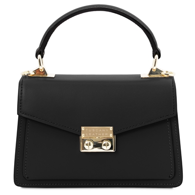 Black Leather Mini Bag by Tuscany Leather | Women's | Handbags | Australia