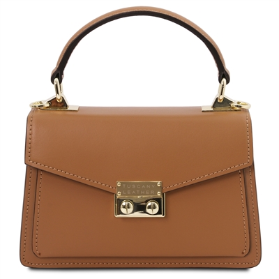 Leather Mini Bag by Tuscany Leather - Cognac | Women's | Handbags | Australia