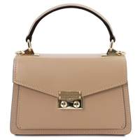 Leather Mini Bag by Tuscany Leather - Champagne | Women's | Handbags | Australia
