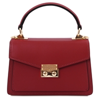 Red Leather Mini Bag by Tuscany Leather | Women's | Handbags | Australia