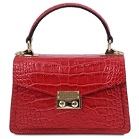 Red Croc Print Mini Bag by Tuscany Leather | Women's | Handbags | Australia