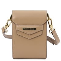 TL Mini Shoulder Bag - Champagne | Women's Bags | Genuine Italian Leather Bags | Australia