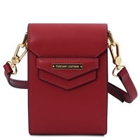 TL Mini Shoulder Bag - Red | Women's Bags | Genuine Italian Leather Bags | Australia