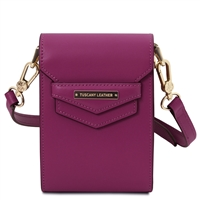 TL Mini Shoulder Bag - Purple | Women's Bags | Genuine Italian Leather Bags | Australia
