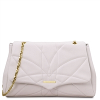 Tuscany Leather Soft Quilted Shoulder Bag - White | Women's Bags | Australia