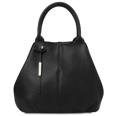 Tuscany Leather TL Soft Black  Leather Tote | Leather Handbags | Australia | Shop