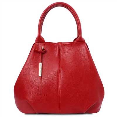 Tuscany Leather Soft Red Leather Tote Handbag | Leather Handbags | Australia | Shop