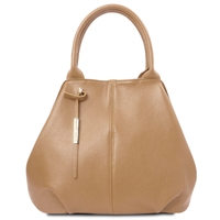 Tuscany Leather Soft Leather Tote Handbag Champagne | Leather Handbags | Australia | Shop