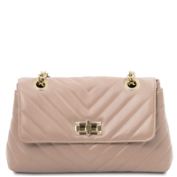 Quilted Twist Lock Shoulder Bag - Ballet Pink | Women's Bags | Australia