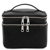 TL142045 Eliot Toiletry Bag - Black | Genuine Leather | Australia