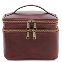 TL142045 Eliot Toiletry Bag for Women - Brown | Genuine Leather | Australia