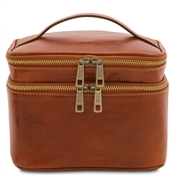 TL142045 Eliot Toiletry Bag for Women - Honey | Genuine Leather | Australia
