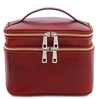 TL142045 Eliot Toiletry Bag for Women - Red | Genuine Leather | Australia