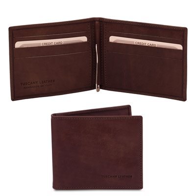 Dark Brown Leather Wallet with Money Clip | Men's Wallets | Australia
