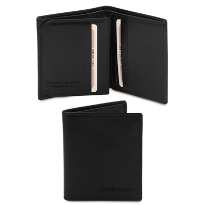 Tuscany Leather   TL142057 Leather Wallet for Men - Black | Men's Wallets | Australia