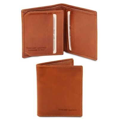 Tuscany Leather TL142057 Leather Wallet for Men - Honey | Men's Wallets | Australia