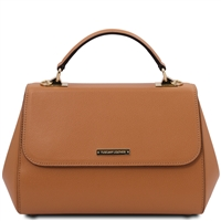 Tuscany Leather Palmellato Leather Handbag - Cognac | Handbags | Australia