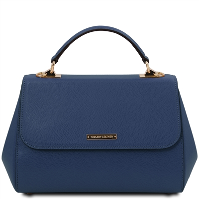 Tuscany Leather Palmellato Blue Leather Handbag | Handbags | Australia