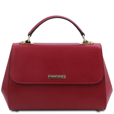 Tuscany Leather Palmellato Red Leather Handbag | Handbags | Australia