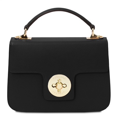 TL Black Palmellato Leather Handbag | Genuine Leather Handbags | Australia