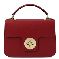 TL Red Palmellato Leather Handbag | Genuine Leather Handbags | Australia