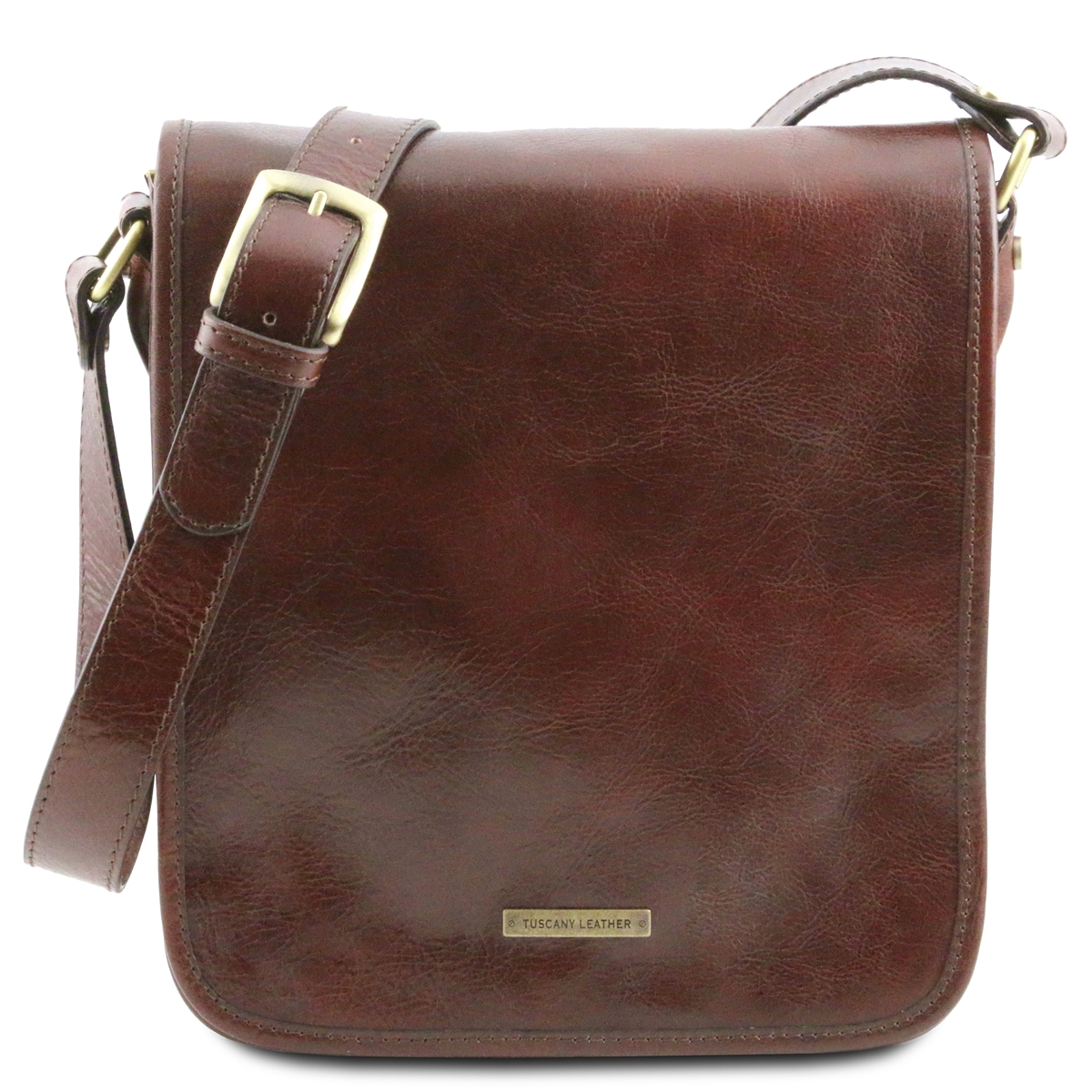 8964dfb04cfa Tuscany Leather TL141255 Men s Messenger Bag - Small - Brown