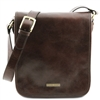 Tuscany Leather TL141255 Men's Messenger Bag - Small - Dark Brown